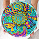 Large mandala 'Noise of the sea' decorative plate porcelain. Plates. Art by Tanya Shest. My Livemaster. Фото №5