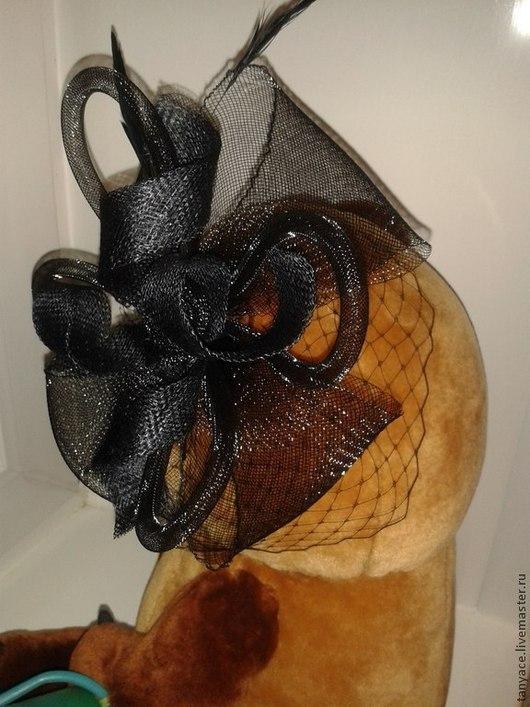 Шляпы ручной работы. Ярмарка Мастеров - ручная работа. Купить вуалетка. Handmade. Черный, однотонный, вуалетка, вуалетка с перьями, Синамей