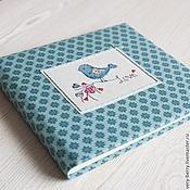 Канцелярские товары ручной работы. Ярмарка Мастеров - ручная работа фотоальбом ручной работы с вышивкой LOVE BIRD. Handmade.