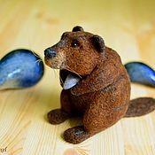 Куклы и игрушки handmade. Livemaster - original item Felt toy Beaver with shell. Handmade.