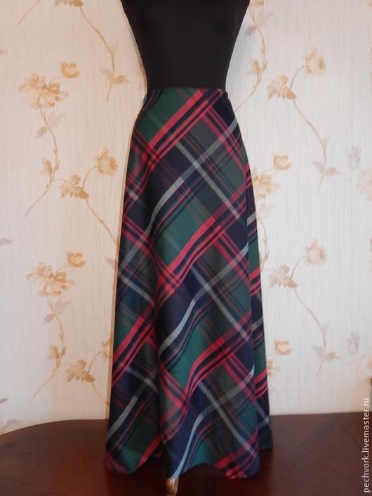 Юбки ручной работы. Ярмарка Мастеров - ручная работа. Купить Осенняя юбка в крупную клетку.. Handmade. Рыжая клетка