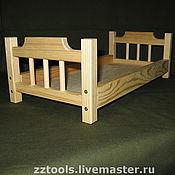 Мебель для кукол ручной работы. Ярмарка Мастеров - ручная работа Кроватка для кукол. Handmade.