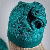 Аксессуары handmade. Livemaster - original item Hat felted EMERALD. Handmade.