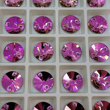 Материалы для творчества. Ярмарка Мастеров - ручная работа 12мм Риволи люкс цвет Роза. Handmade.