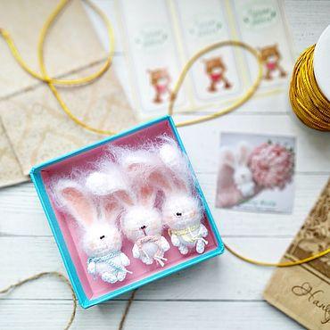 Миниатюрные игрушки: Зайчики