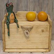 """Для дома и интерьера ручной работы. Ярмарка Мастеров - ручная работа Хлебница """"Карамельно-медовая"""" (деревянная). Handmade."""