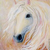 """Картины и панно ручной работы. Ярмарка Мастеров - ручная работа картина """"Нежность. Белая лошадь"""". Handmade."""