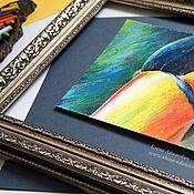 Картины и панно ручной работы. Ярмарка Мастеров - ручная работа Пастель картина. Привет! Картины птиц. Ярко сочно.. Handmade.