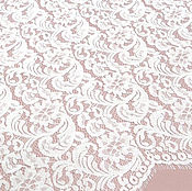 Ткань кружевное полотно белое  , 150см х150см