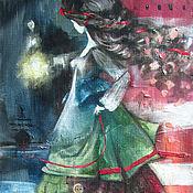 Картины и панно ручной работы. Ярмарка Мастеров - ручная работа Смотрительница маяка. Handmade.