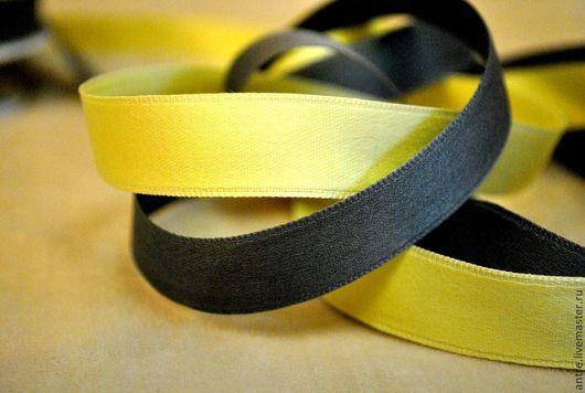 Шитье ручной работы. Ярмарка Мастеров - ручная работа. Купить Коллекция нежных лент (желтый и мышиный). Handmade. Темно-серый