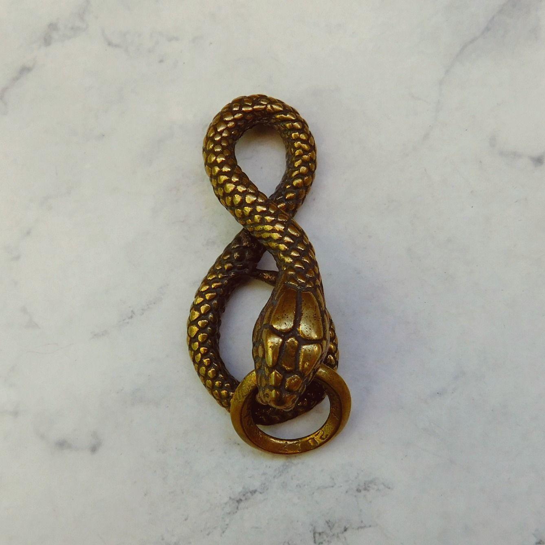 "Крепление для ремня ""Змея"", латунь, Фурнитура, Дубна,  Фото №1"