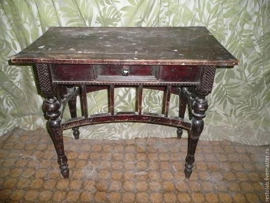 Реставрация. Ярмарка Мастеров - ручная работа. Купить Реставрация старинного столика с выдвижным ящиком.. Handmade. Коричневый, винтаж, береза