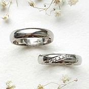 handmade. Livemaster - original item Pair of classic wedding rings made of silver (Ob10, Ob17). Handmade.