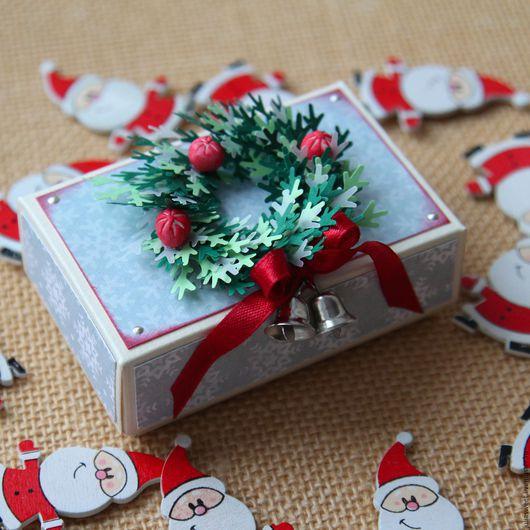 """Подарочная упаковка ручной работы. Ярмарка Мастеров - ручная работа. Купить Подарочная коробочка """"Новогоднее украшение"""". Handmade. Комбинированный"""