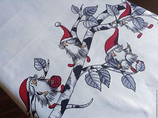 Шитье ручной работы. Ярмарка Мастеров - ручная работа. Купить Плотный хлопок 150 ширина для скатерти Гномы в гнезде. Handmade.