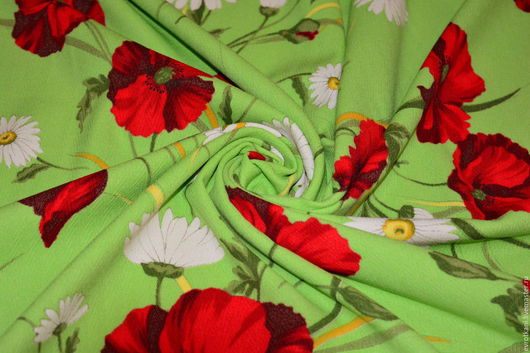 Шитье ручной работы. Ярмарка Мастеров - ручная работа. Купить Вискоза с хлопком  Dolce&Gabbana.. Handmade. Ярко-зелёный, итальянские ткани