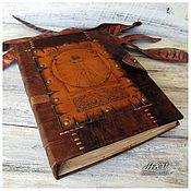 Канцелярские товары handmade. Livemaster - original item Diary leather