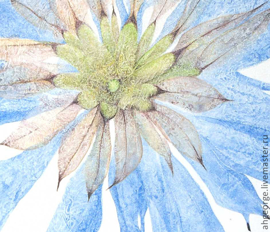 Картины цветов ручной работы. Ярмарка Мастеров - ручная работа. Купить Стрела Купидона или Цветок Любви. Handmade. Голубой