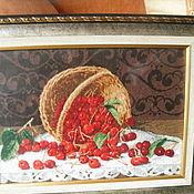 Картины и панно ручной работы. Ярмарка Мастеров - ручная работа Вишни. Handmade.