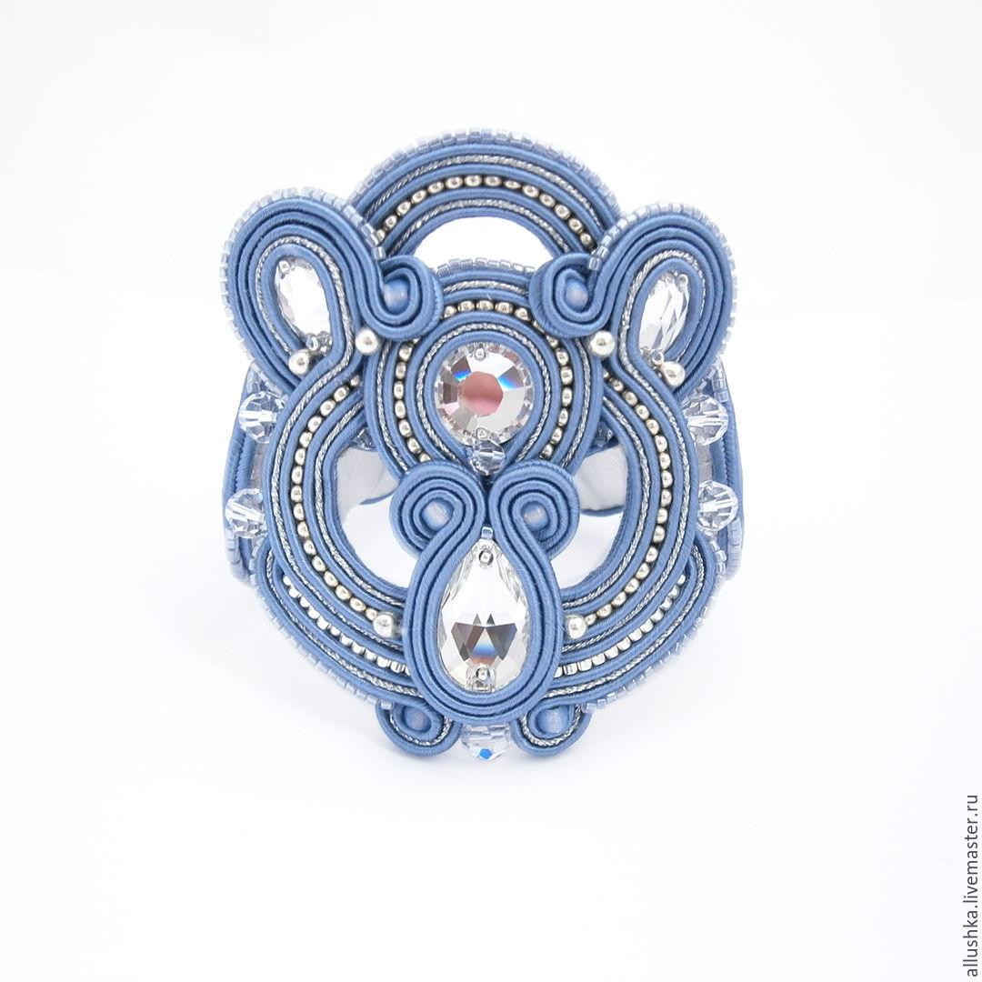 soutache bracelet 'jeans', Bead bracelet, Moscow,  Фото №1