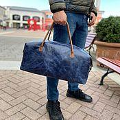 Сумки и аксессуары handmade. Livemaster - original item Travel bag, sports bag made of genuine leather. Handmade.
