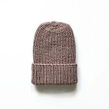 Accessories. Livemaster - original item Knitted wool hats for women with lapel Beige hat. Handmade.