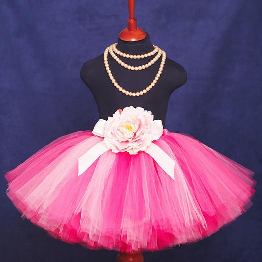 """Одежда для девочек, ручной работы. Ярмарка Мастеров - ручная работа. Купить """"Малиновый коктейль"""" пышная юбка-пачка из фатина. Handmade."""