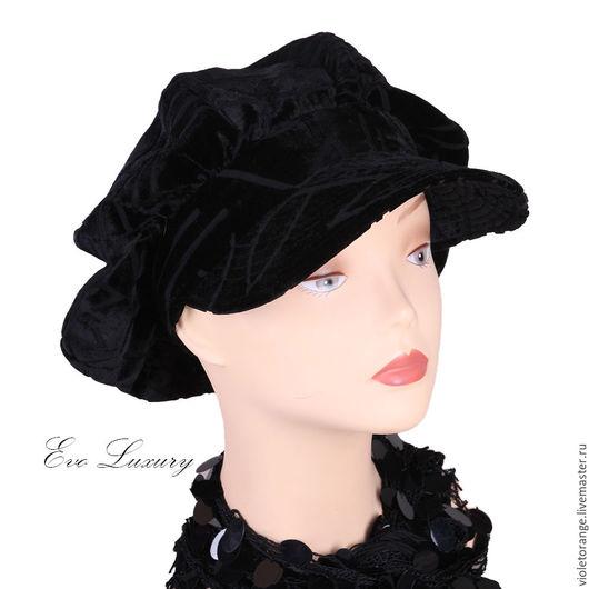 Коллекция кепок восьмиклинок из бархата Деворе. Дизайнер Елена Ушакова. Я шью кепки, береты и шляпы из тканей уровня houte couture, произведенных в Италии, Франции, Англии и Швейцарии.