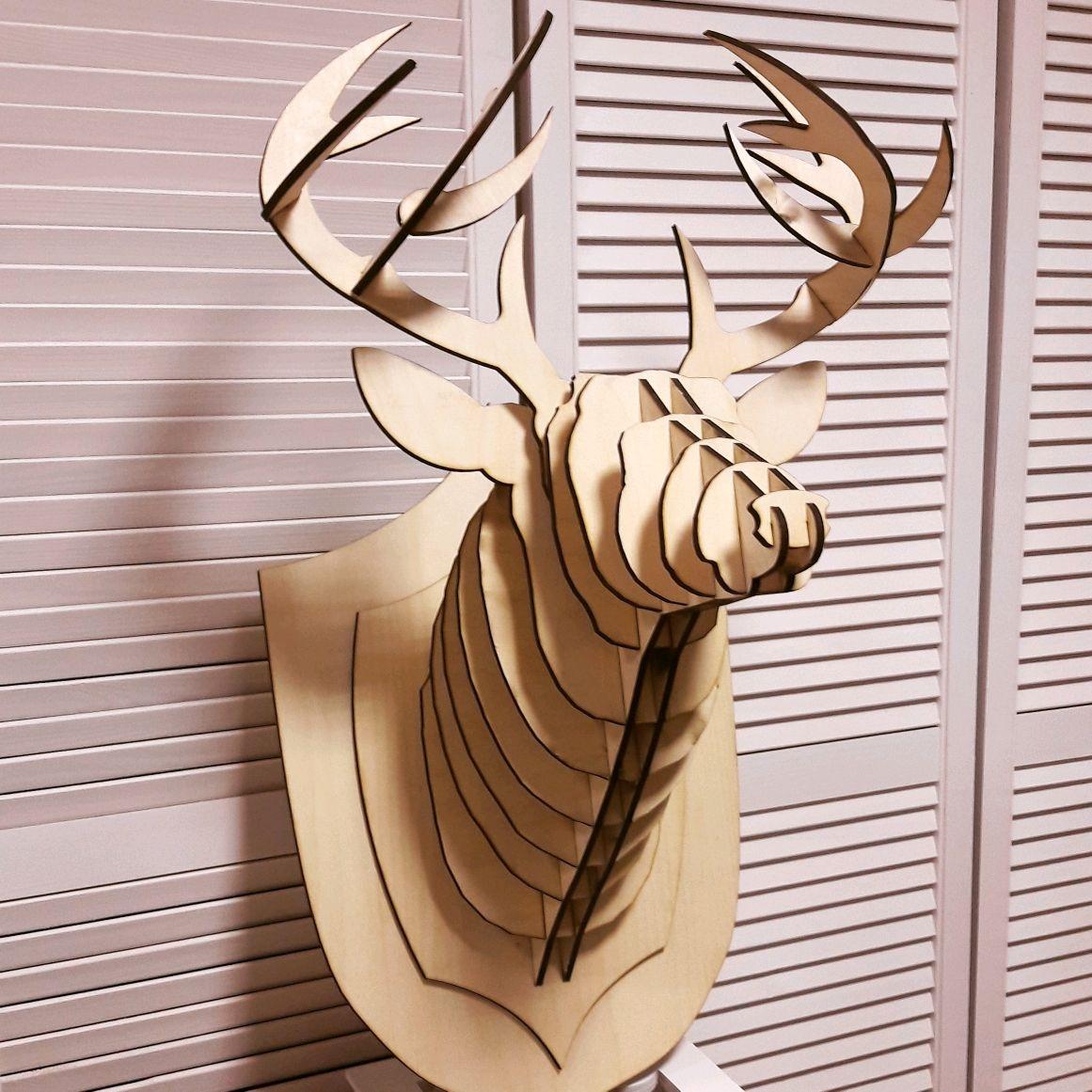 Автомобильные ручной работы. Ярмарка Мастеров - ручная работа. Купить Голова оленя. Handmade. Подарок мужчине, подарок на день рождения