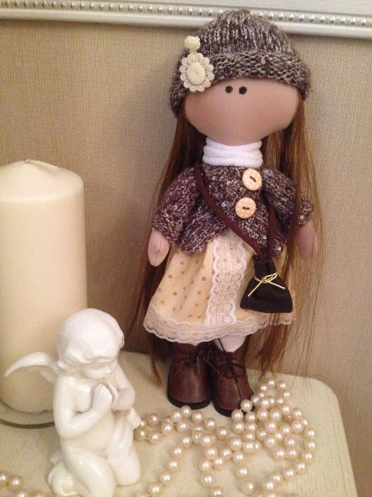 Куклы Тильды ручной работы. Ярмарка Мастеров - ручная работа. Купить Кукла-конфетка. Handmade. Желтый, для дома и интерьера, хлопок