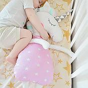 Мягкие игрушки ручной работы. Ярмарка Мастеров - ручная работа Игрушка-сплюшка Единорожек. Handmade.