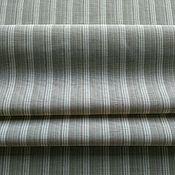 Материалы для творчества handmade. Livemaster - original item Fabric of blended linen Grey stripes. Handmade.