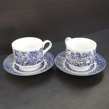 Винтаж ручной работы. Ярмарка Мастеров - ручная работа Чайно-кофейная пара Churchill. Handmade.