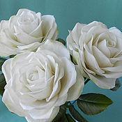 Цветы и флористика handmade. Livemaster - original item White roses. Handmade.