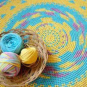 """Для дома и интерьера ручной работы. Ярмарка Мастеров - ручная работа Коврик """"Выше радуги"""" вязаный. Handmade."""