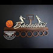 Спортивные сувениры ручной работы. Ярмарка Мастеров - ручная работа Медальница Баскетбол. Handmade.