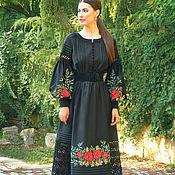 Одежда handmade. Livemaster - original item Elegant dress with hand embroidery