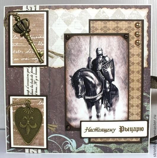 Мужская открытка `Темный рыцарь`