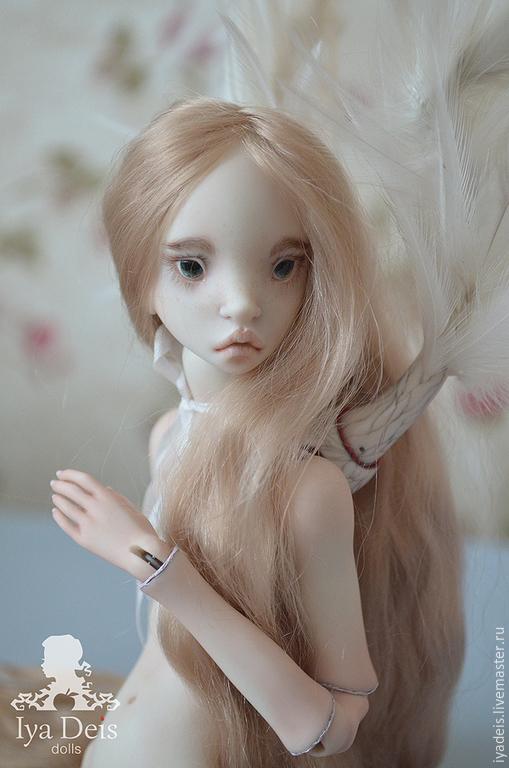 Коллекционные куклы ручной работы. Ярмарка Мастеров - ручная работа. Купить Ангел. Шарнирная кукла.. Handmade. Белый, коллекционная кукла