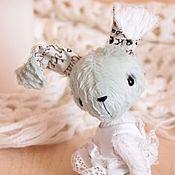 Куклы и игрушки ручной работы. Ярмарка Мастеров - ручная работа Зайка тедди Аленка. Handmade.