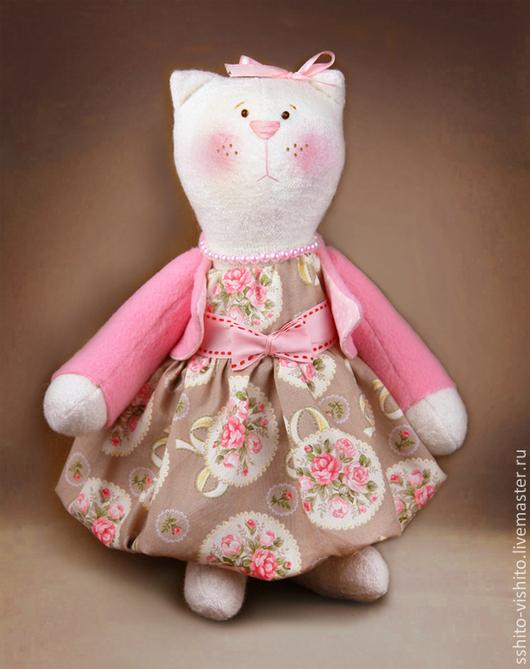 Куклы и игрушки ручной работы. Ярмарка Мастеров - ручная работа. Купить Набор для шитья игрушки Кошка Матильда. Handmade. Бежевый