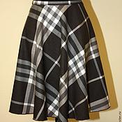 Одежда ручной работы. Ярмарка Мастеров - ручная работа Шерстяная юбка в клетку. Handmade.