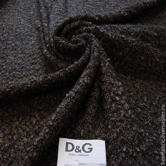 пальтовая букле сток D&G, Италия шерсть + мохер шир. 145 см цена 3200 р цвет темно-коричневый легкая, тонкая, пушистая , нежная и шелковистая пов-ть с небольшим блеском