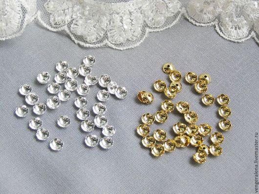 Для украшений ручной работы. Ярмарка Мастеров - ручная работа. Купить Шапочки обниматели для бусин 10 шт золото серебро. Handmade.