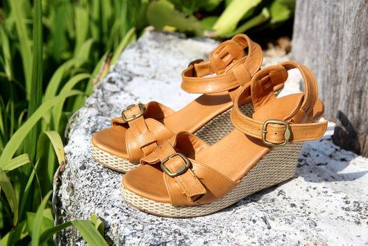 Обувь ручной работы. Ярмарка Мастеров - ручная работа. Купить Туфли кожаные Jess. Handmade. Бежевый, женская обувь, подарок