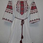 Одежда ручной работы. Ярмарка Мастеров - ручная работа Платье на льне ручной работы. Handmade.