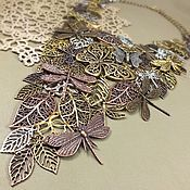 Украшения handmade. Livemaster - original item Winged Botany. Necklace. Handmade.