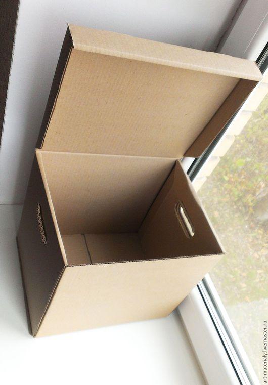Упаковка ручной работы. Ярмарка Мастеров - ручная работа. Купить Коробка 30х25х27 см гофрокартон. Handmade. Коричневый, гофрокартонная коробка