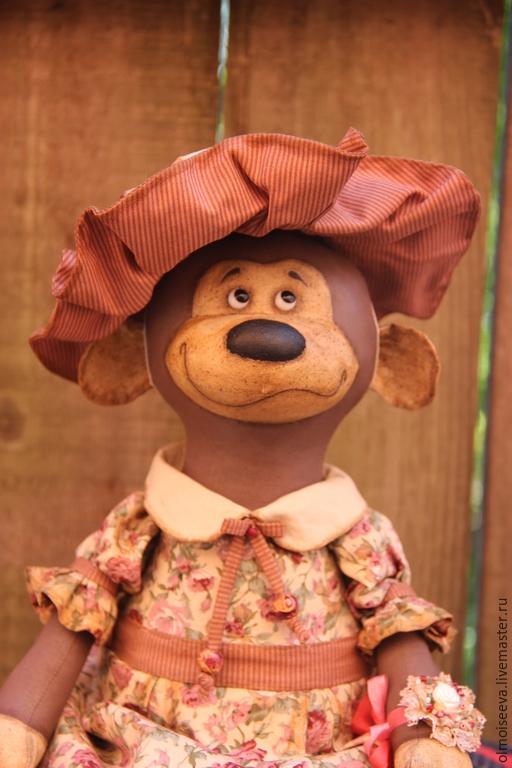 Ароматизированные куклы ручной работы. Ярмарка Мастеров - ручная работа. Купить Обезьянка в шляпе. Handmade. Коричневый, подарок на новый год
